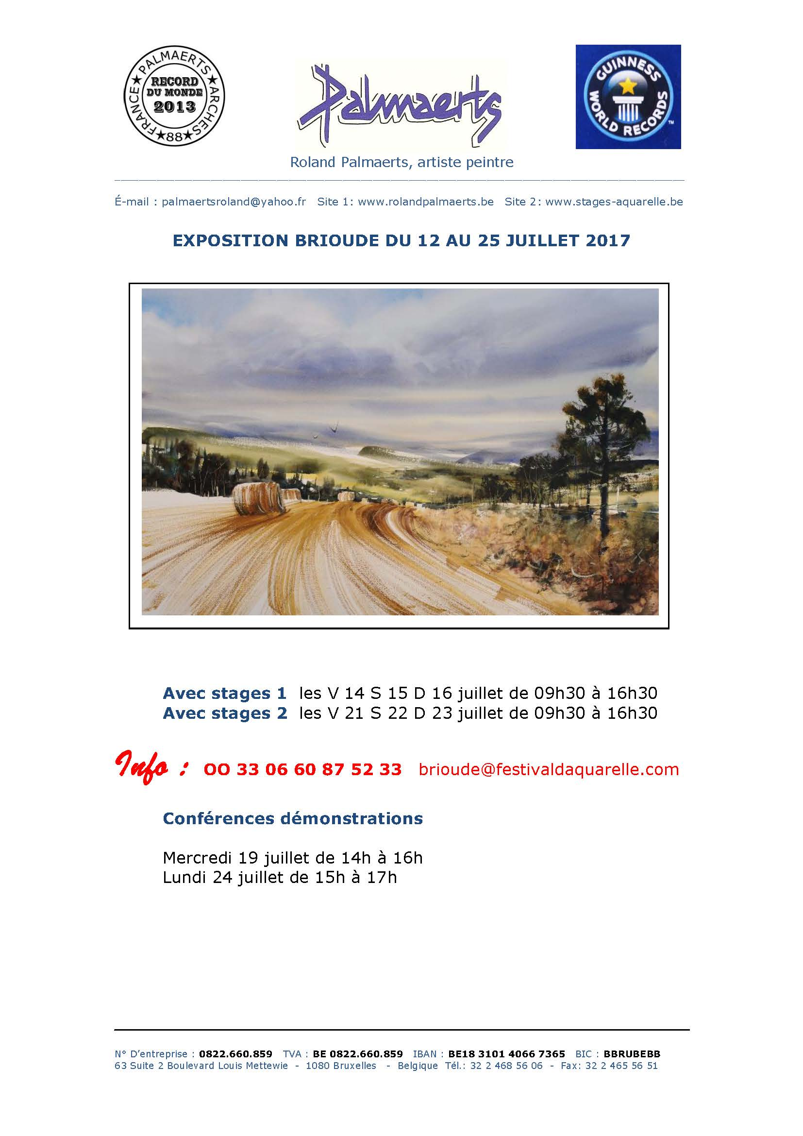 EXPO Stages BRIOUDE 2017
